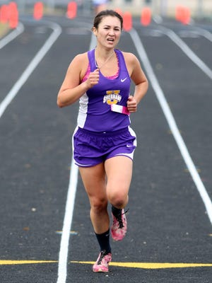 Unioto's Haley Wright competes in the Scioto Valley Conference Cross Country Meet at Westfall High School, Oct. 15, 2016. Wright will compete in this weekend's OHSAA State Cross Country Meet in Hebron, Ohio.