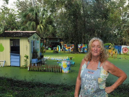 Maxine Trainer Flooded Arts in the Garden