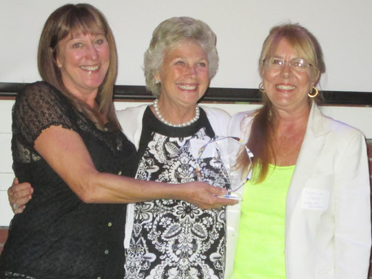 United For Animals was the recipient of the Pegasus Foundation's First Wings Award for work with animals in Fort Pierce. They were nominated not only for work in improving the lives of dogs but for impoundment reduction through spay and neuter efforts. Pictured are, from left, Janice Douglas, of United For Animals, with Barbara Birdsey, Pegasus Foundation, and Susan M. Parry, United For Animals.
