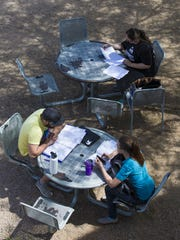 Students study at Mesa Community College Red Mountain