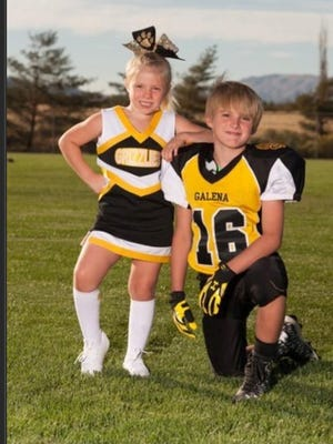 Ever Whitaker, 8, and his sister, Eden, 5, pose for a photo that was submitted to the Reno Gazette-Journal.