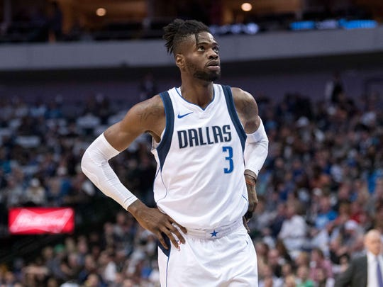 Dallas Mavericks center Nerlens Noel (3) during the game against the San Antonio Spurs at the American Airlines Center.