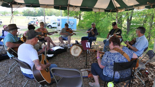 Musicians at the Minnesota Homegrown Kickoff play during a jam session at El Rancho Manana near Richmond.