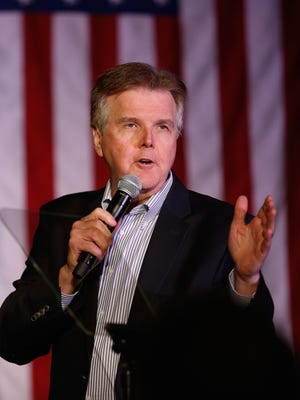 Texas Lt. Govenor Dan Patrick speaks at a watch party for Republican presidential candidate Sen. Ted Cruz, R-Texas, March 15, 2016, in Houston.