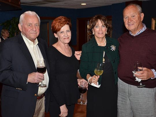 Celebrating the anniversary of the King Center with a cocktail fundraiser at the Eau Gallie Yacht Club were Bryan and Judy Roub along with Polly and Tom Molnar.