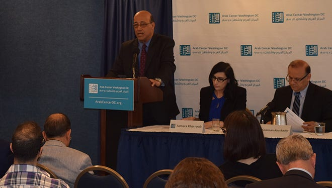 Dr. Imad K. Harb shares the results of the 2016 Arab Opinion Index at National Press Club on April 11th, 2017.