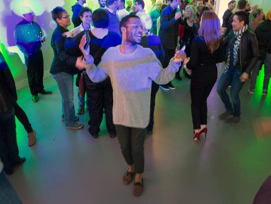 Hundreds came out to dance and drink at The Cincinnati Tea Dance at 21C hotel.