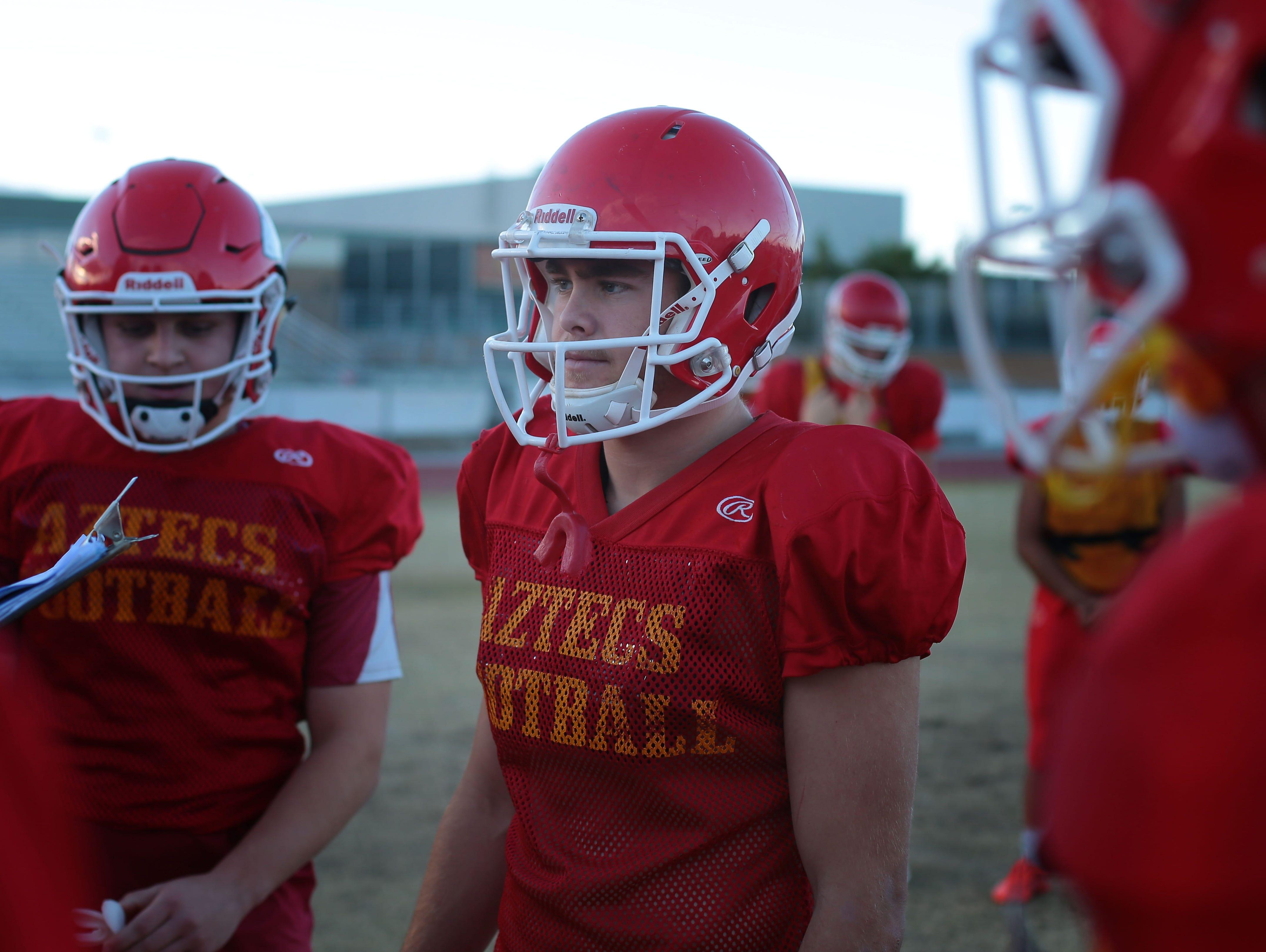 Palm Desert football player Beau Berryhill at practice on Wednesday at Palm Desert High School.