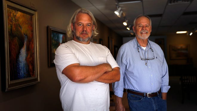 Steve Barr, left, and Rod Hubble will open Hubble & Barr Galleries next weekend in downtown Farmington.