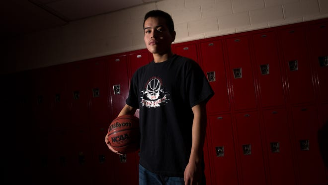 Shiprock's Kevin Begay poses for a portrait on Dec. 5 at Shiprock High School.