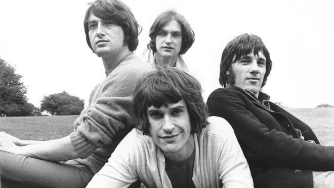 The Kinks from left: Pete Quaife, Dave Davies, Ray Davies (bottom) and Mick Avory.