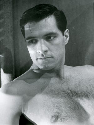 """In 1960's """"Psycho,"""" Sam Loomis (John Gavin) inspires Marion Crane to steal $40,000. We can see why."""
