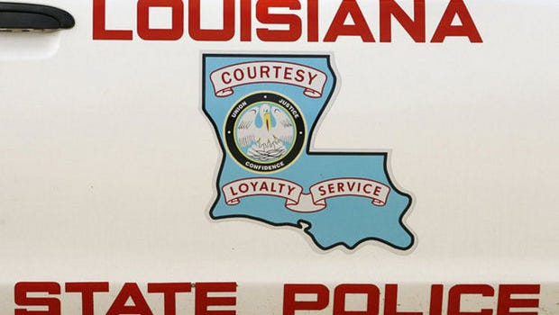 A driver was cited for failure to yield on Thursday when he didn't stop at a railroad crossing and was hit by a train, according to Louisiana State Police.