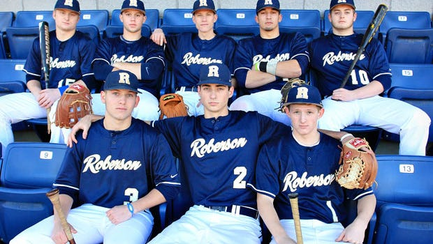 Roberson graduate Marshall Beachboard (1) has committed to play college baseball for Piedmont, Ga.