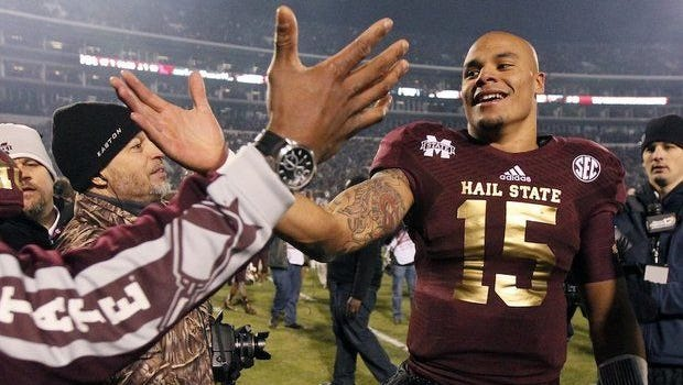 Mississippi State quarterback Dak Prescott received praise for his improved passing during the offseason at SEC Media Days.