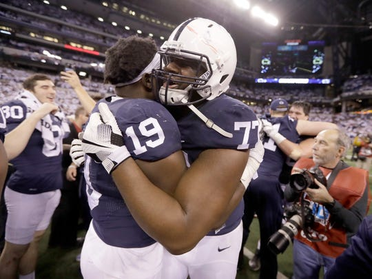 Once a backup, Chasz Wright (77) helped lead Penn State's