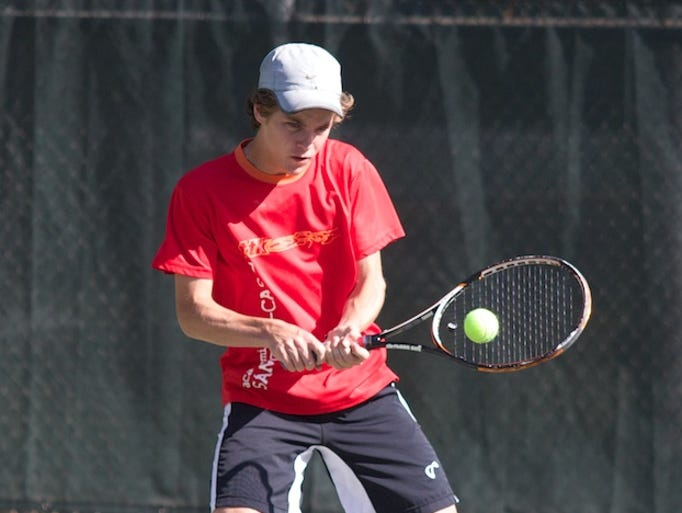 The MHSAA Class 1A tennis championships were held at Parham Bridges Park in Jackson on  Friday, May 2, 2014. Photo by Keith Warren