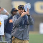 Toledo head coach Matt Campbell reacts during a 35-30 loss to Western Michigan in an NCAA college football game Friday, Nov. 27, 2015, in Toledo, Ohio.