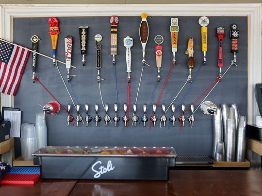 The bar has 14 beers on tap at Barley on the Hudson