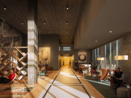 Rendering of what the lobby of The Local is expected
