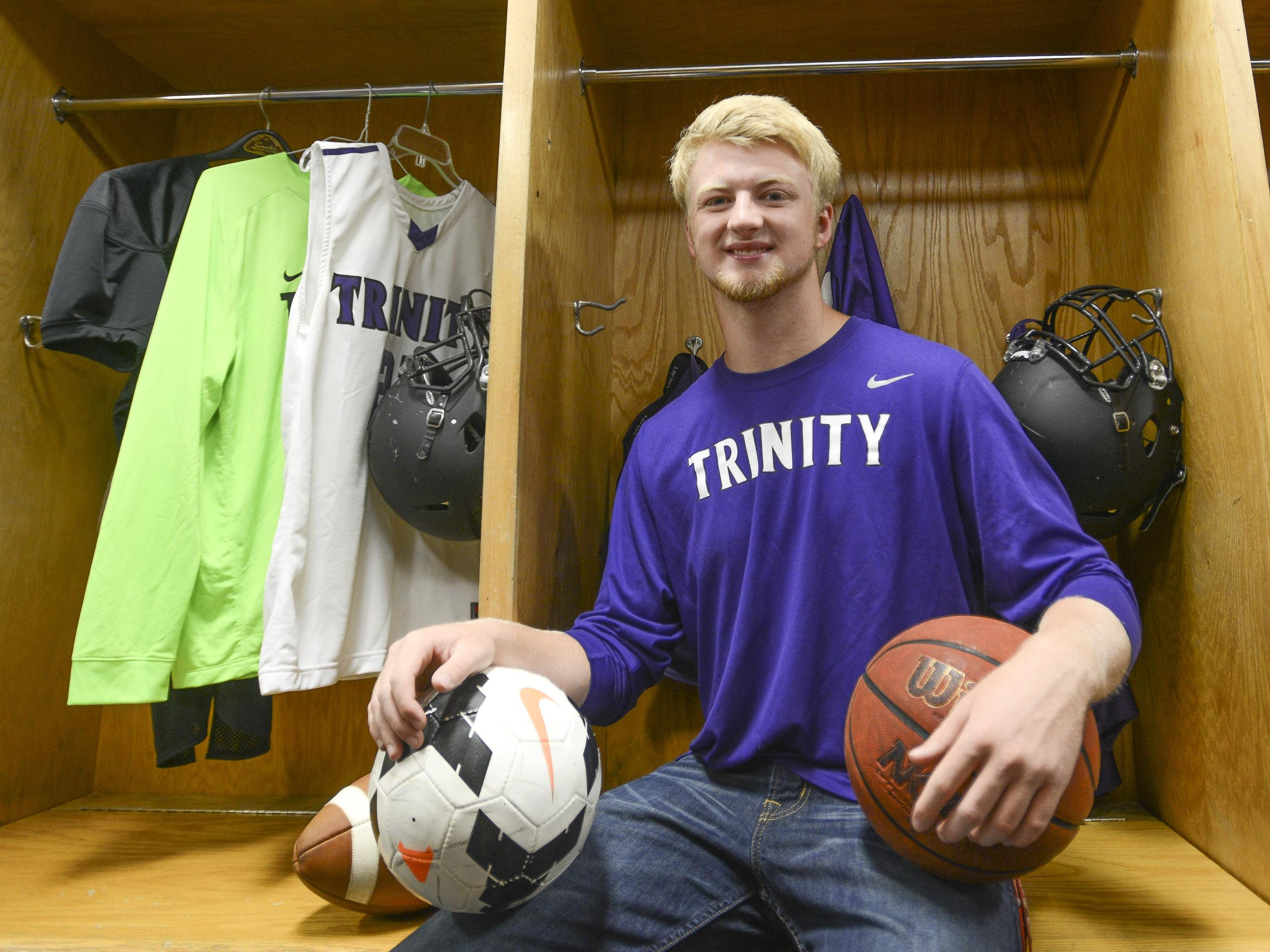 TCA's Kyle Akin was Class A Mr. Football Back of the Year as a senior.
