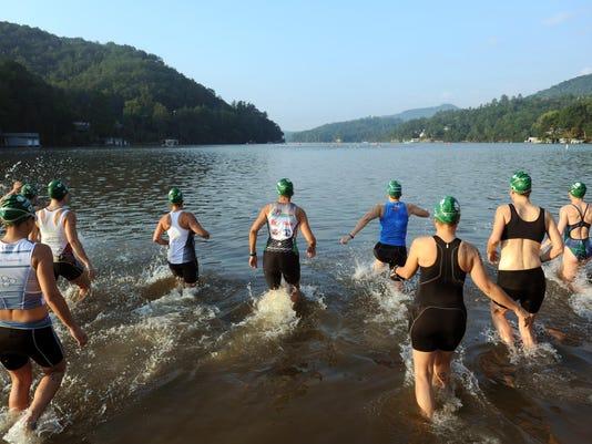 Lake lure triathlon swim