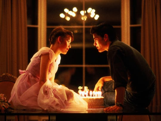 "Molly Ringwald, with Michael Schoeffling, has a birthday to remember in ""Sixteen Candles."""