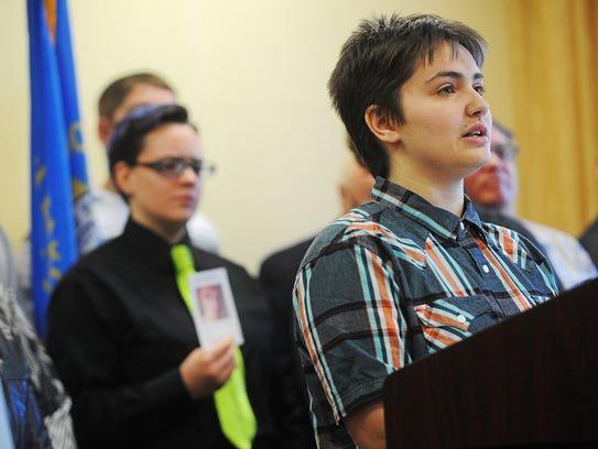 Thomas Lewis, an 18-year-old transgender student at