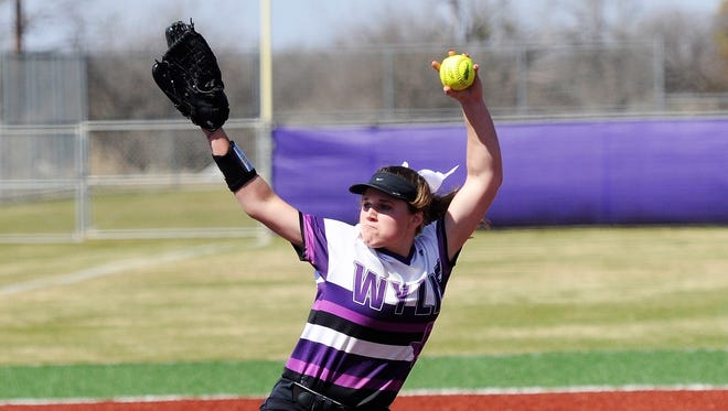 Wylie's Kaylee Philipp (3) returns to the circle for her junior season after being the Lady Bulldogs ace last year.