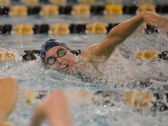 IHA's Isabelle Arevalo swims the 100-yard freestyle event during the Bergen Meet Of Champions on Jan. 29, 2017.