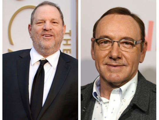 Harvey Weinstein in March 2014. Kevin Spacey in April