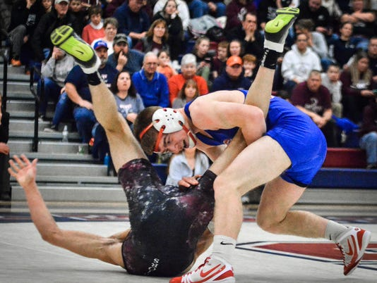 Gettysburg at Spring Grove District 3 AAA wrestling