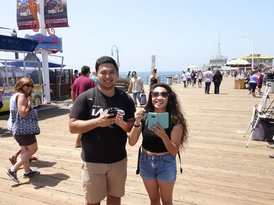 UCLA students Jessica Cantiller and  Adrian Navarro.