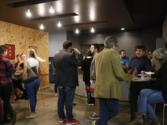 Attendees mingle at Tallahassee Startup Week.