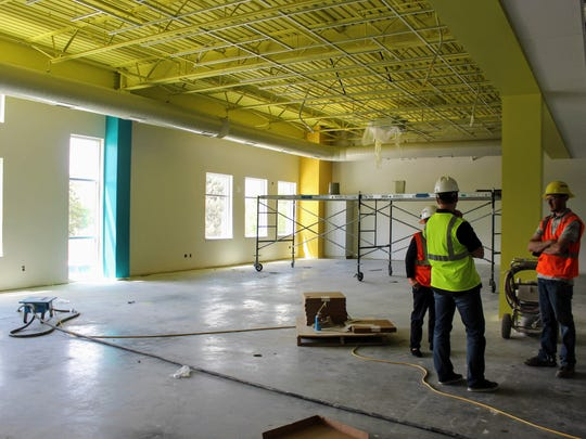 The media center is a large space on the second floor and will have low bookshelves that students can sit on to read by the windows. The new elementary school is located at  520 32nd Street North and will be completed in time for the 2018-2019 school year.