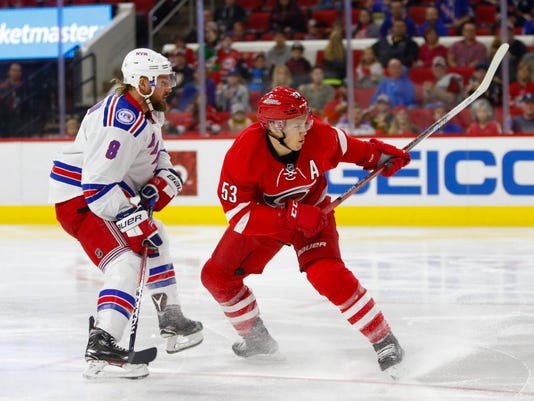 USP NHL: NEW YORK RANGERS AT CAROLINA HURRICANES S HKN