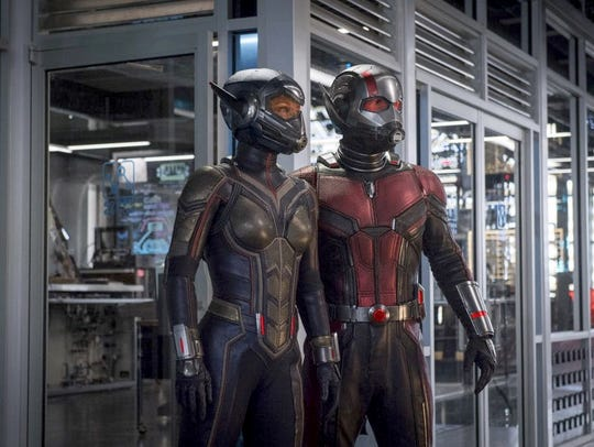 """Evangeline Lilly and Paul Rudd star in """"Ant-Man and"""