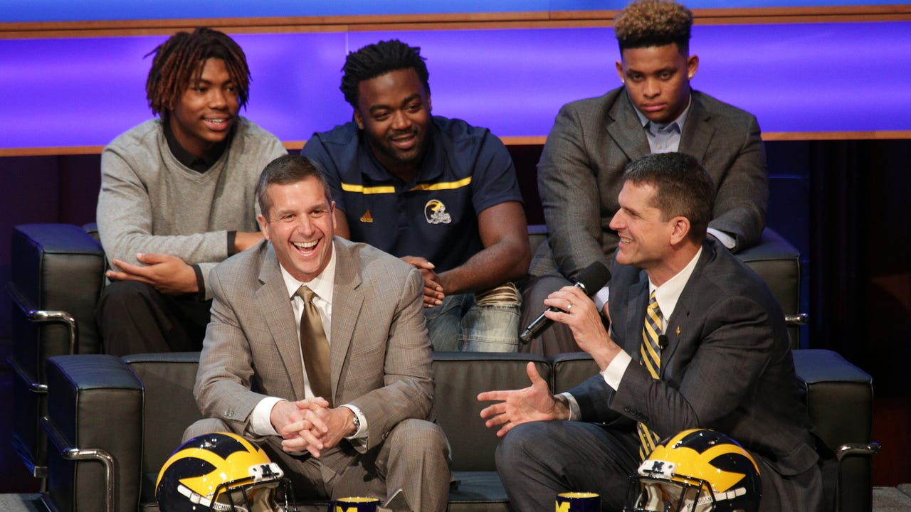 Harbaugh: 'Signing of Stars' inspired by Chad Carr, family