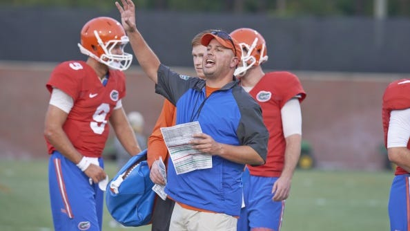 Florida offenseive coordinator Kurt Roper will be packing up and leaving Gainesville because of the departure of head coach Will Muschamp.