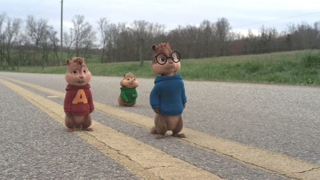 """Alvin, Simon and Theodore are back in action in """"Alvin and the Chipmunks: The Road Chip."""""""