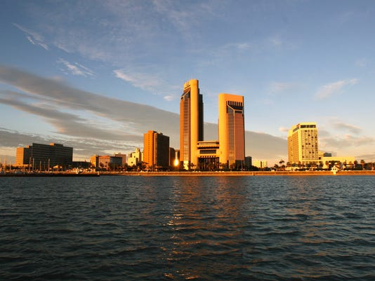 Corpus Christi Skyline at Sunrise