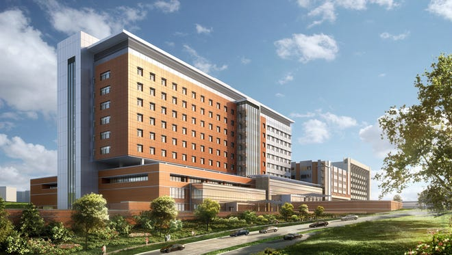 Rendering of Mission Hospital for Advanced Medicine, to be completed in 2019.