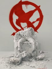 """Poster for """"Mockingjay: Part 2,"""" the last in the """"Hunger Games"""" series."""