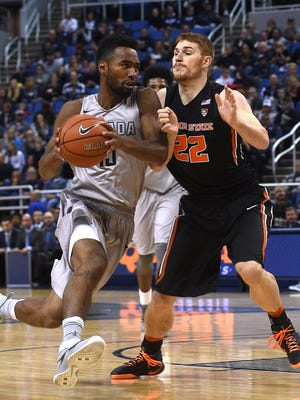 Nevada's D.J. Fenner and the Wolf Pack blasted Oregon State on Friday night at Lawlor Events Center.