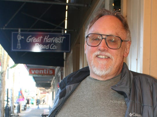 Ken Bierly stopped by the restaurant to promote racial