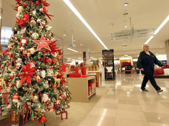 Brenda Robb of Dent walks the Home section of Macy's