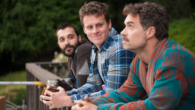 """Frankie J. Alvarez, left, Jonathan Groff and Murray Bartlett live and love in San Francisco in HBO's series """"Looking."""""""