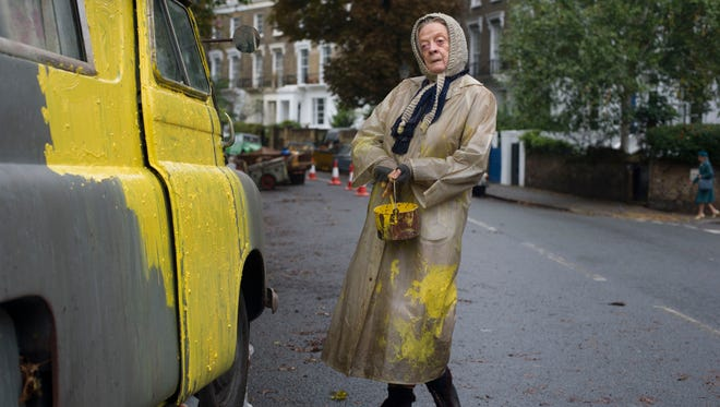 "Mary Shepherd (Maggie Smith) parks her broken-down van on a North London block for 15 years in ""The Lady in the Van."""