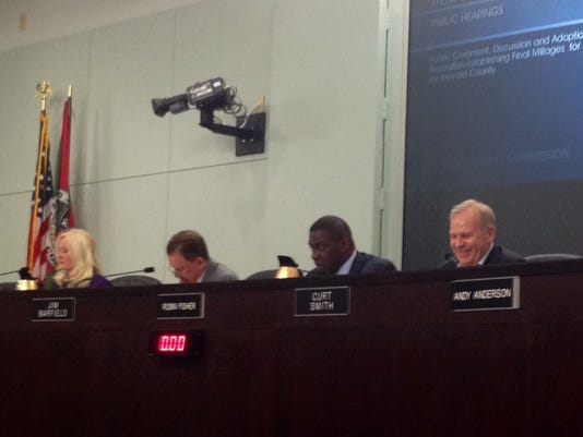 Brevard County commissioners discuss the county budget. DAVE BERMAN/FLORIDA TODAY