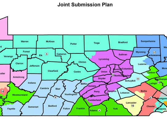 Proposed congressional map.